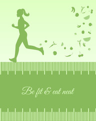 Silhouette background with female running