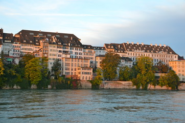 River Houses on the Rhine, Basel, Switzerland