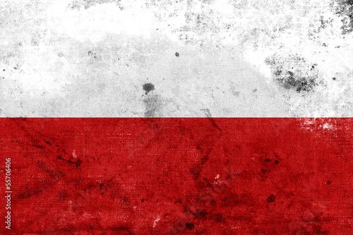 Obraz na płótnie Grunge Poland flag kopia
