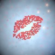 3d render of a tender kiss symbol of thousand hearts