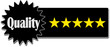 Quality 5 Star qualität 5 Sterne Icon Patch Siegel