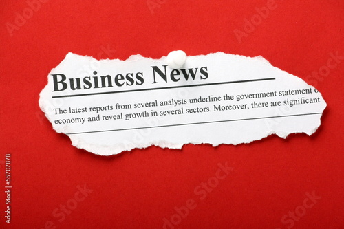 Business News newspaper clipping