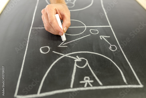 Drawing basketball strategy