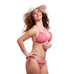 attraktive junge Frau im Bikini