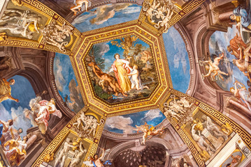 Fresco in a hall in the Vatican Musuems
