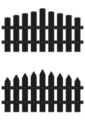 2 Zaunelemente schwarz