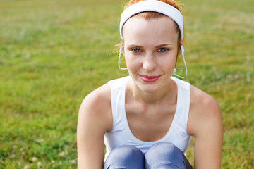 Portrait of a sporty young woman.