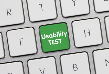 Usability Test keyboard