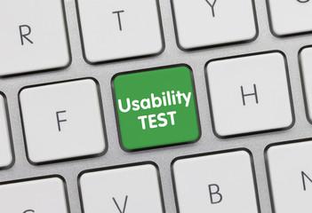 Usability Test keyboard