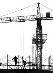 Building Site in Silhouette