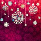 Red christmas vector illustration. EPS 10