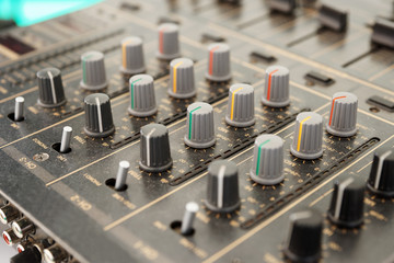 Sound mixer, selective focus