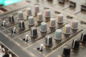 Sound mixer, selective focus