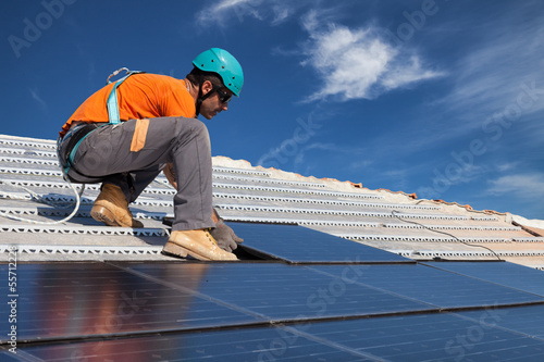 canvas print picture install solar panels