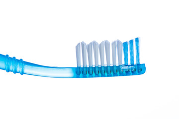 One toothbrush over white background