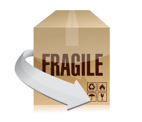fragile box illustration design