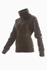 braune Fleece-Jacke