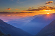 beautiful mountain sunrise