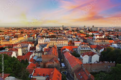 Foto op Plexiglas Bedehuis Zagreb cityspace