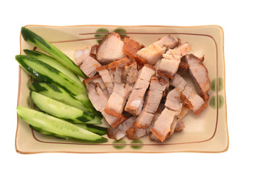 Serving Of Chinese Roasted Pork