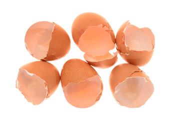 Chicken Egg Shells Isolated On White Background