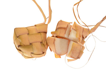 Ketupat, A Malay Rice Dumpling Wrapped With Coconut Leaf