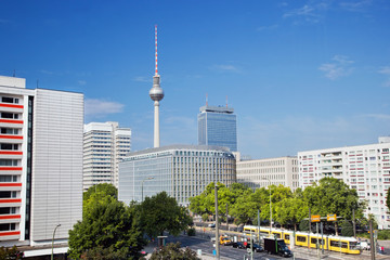 Television tower, Alexanderplatz area. Berlin, Germany