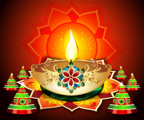 Diwali Backgroud With Cracker