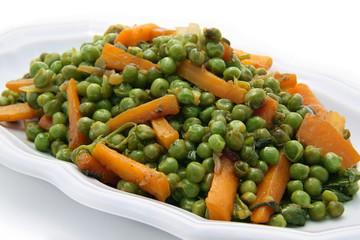 petits pois et carottes