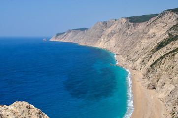 Famous Amos beach at Kefalonia Greece
