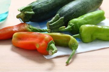 Zucchine e peperoni