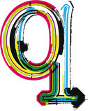Colorful Grunge LETTER q