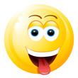 Frecher Smiley mit rausgestreckter Zunge
