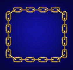 Frame made with gold chain