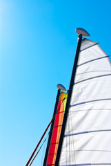 Velas de catamaranes pequeños