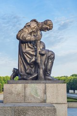 Kneeling soldier, Treptower park, Berlin, Germany