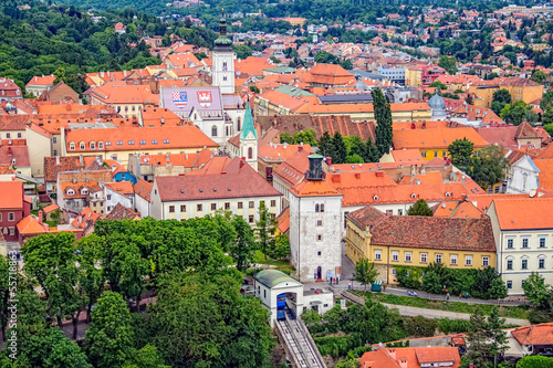 Old upper town in Zagreb