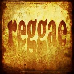 reggae word music background