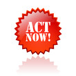 Act now vector icon