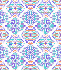 cross-stitch ethnic seamless pattern