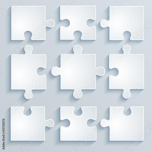 Fototapeta Parts of paper puzzles.