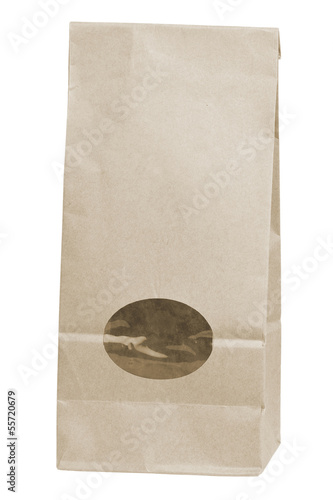 brown disposable paper bag