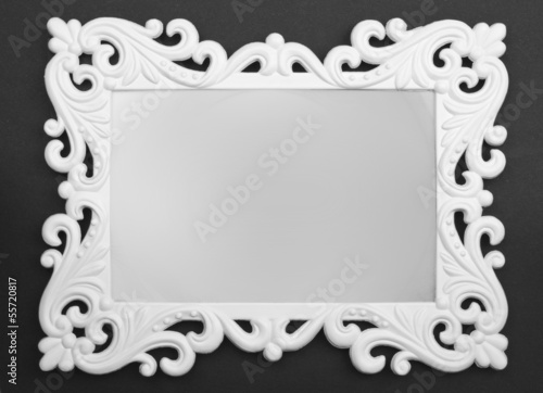 white Frame on black background