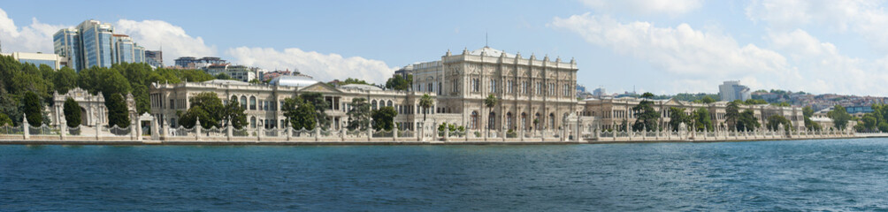 Large palace on a river