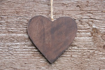 Herz auf Holz - Lebenslang Liebe
