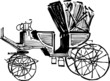 sketch of vintage carriage