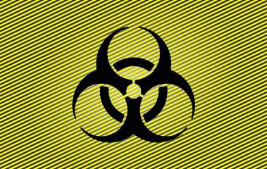 WArnschild Toxisch Radioaktiv Giftgas Gas Schutz Warnung