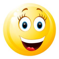niedliches Smiley-Mädchen