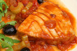 Tuna Steak Poached in Tomato Sauce