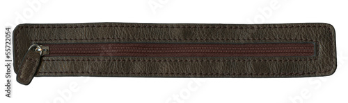 brown leather texture and zipper